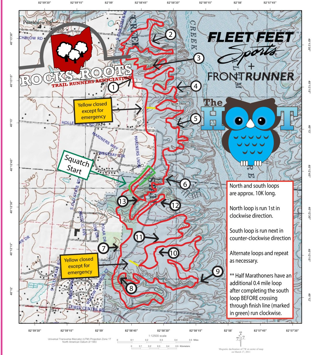 RRTRA TRAIL MAP Hoot Course
