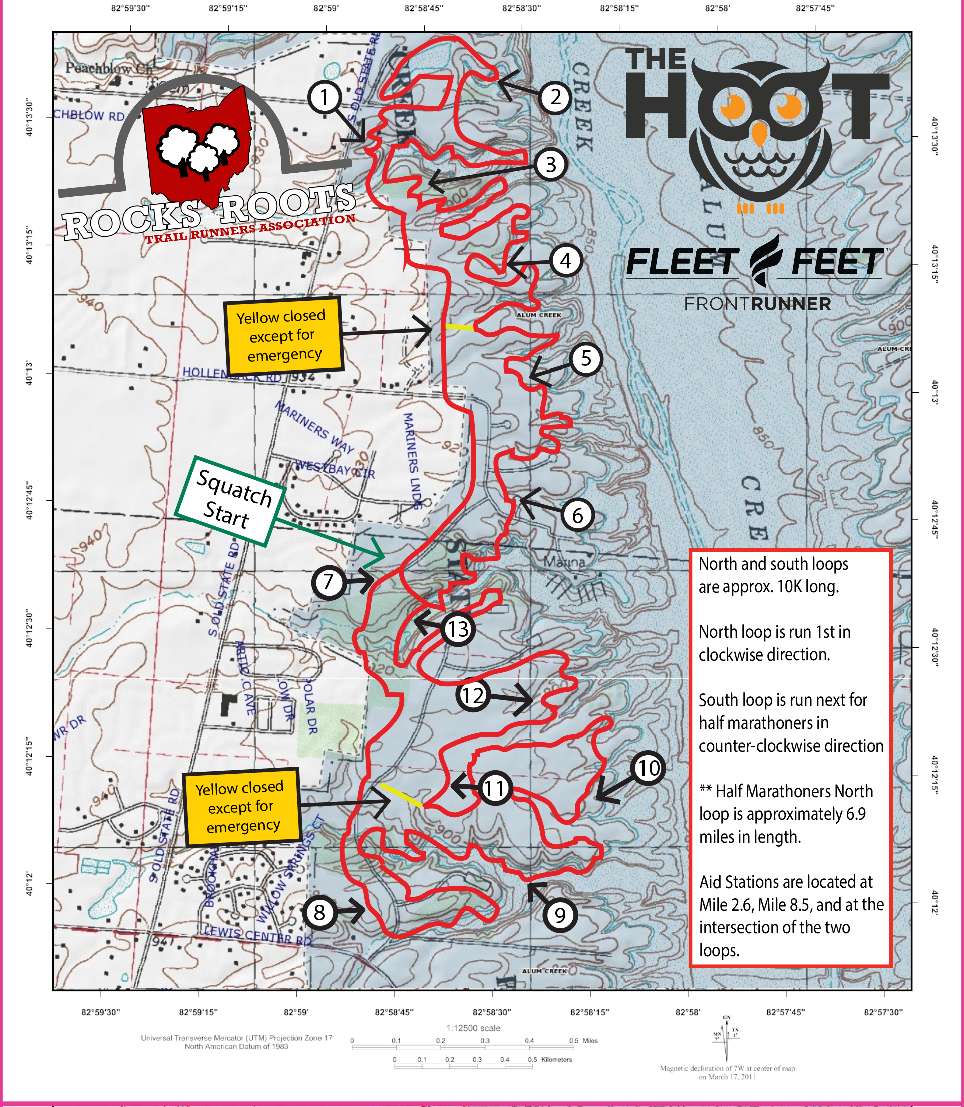RRTRA TRAIL MAP 2018 Hoot Course